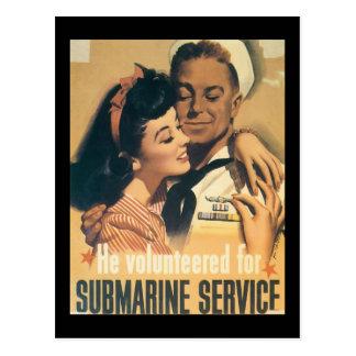 Il a offert la deuxième guerre mondiale carte postale