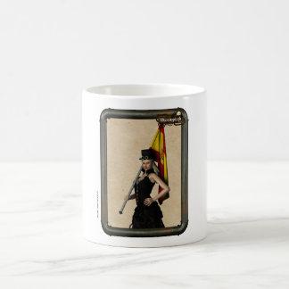 Il effiloche de café Steampunk drapeau Espagne Mug Blanc