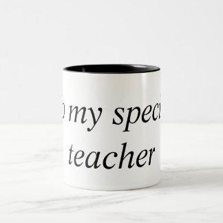 il effiloche, mon enseignant spécial mug bicolore