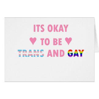 Il est correct d'être le transport et l'homosexuel carte de vœux