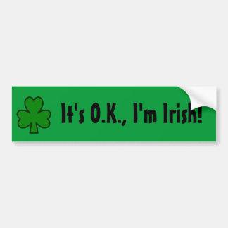 Il est CORRECT, je suis irlandais ! Autocollants Pour Voiture