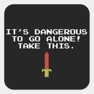 Il est dangereux d'aller seul fallent à ceci des sticker carré