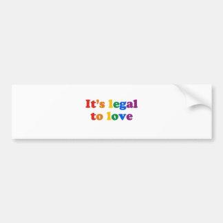 Il est juridique pour aimer autocollant pour voiture