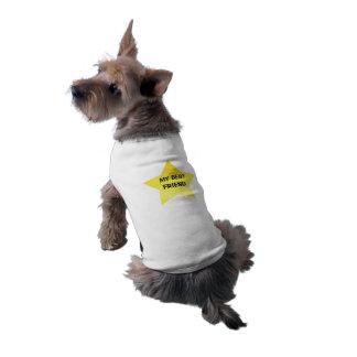 Il est mon meilleur ami t-shirt pour chien