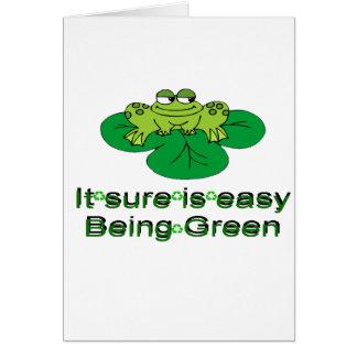 Il est Sure être facile ..... grenouille verte Carte De Vœux