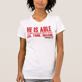 Il est T-shirt chrétien capable de bible - rouge