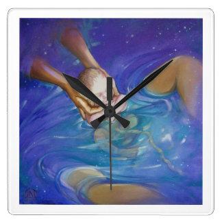 Il est temps de bébé, horloge murale de Waterbirth