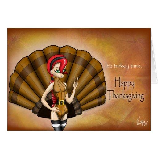 Il est temps de la Turquie : Bon thanksgiving ! Carte De Vœux