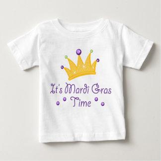 Il est temps de mardi gras t-shirt pour bébé