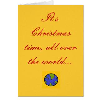 Il est temps de Noël, partout le worl… Carte De Vœux