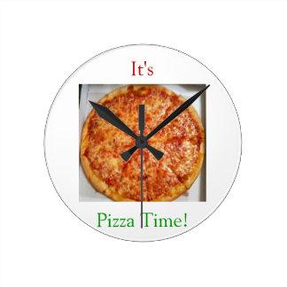Il est temps de pizza horloge murale