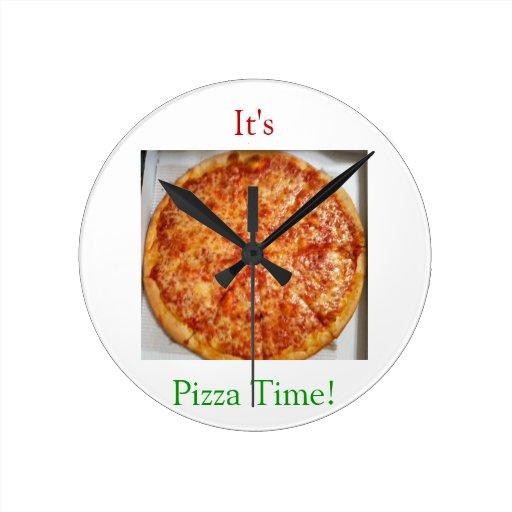 Il est temps de pizza ! horloge murale