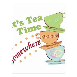 Il est temps de thé carte postale