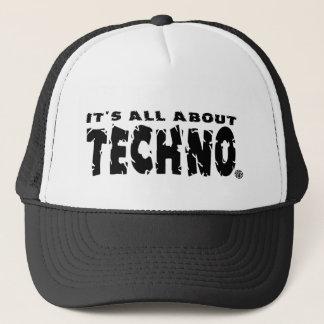 Il est tout au sujet de techno - casquette