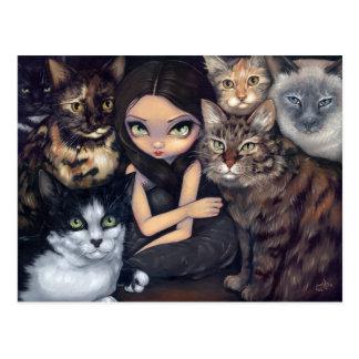 Il est tout carte postale au sujet de chats