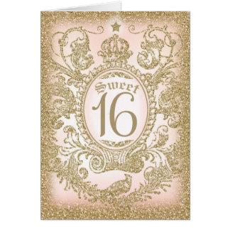 Il était une fois bonbon 16 carte de vœux