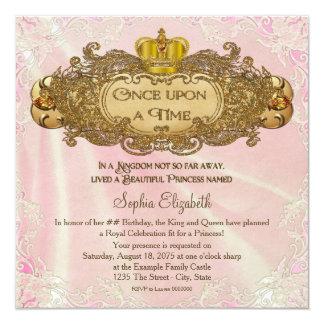 Il était une fois fête d'anniversaire de princesse carton d'invitation  13,33 cm