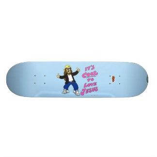 """""""Il fait frais planche à roulettes pour aimer Jésu Skateboards"""