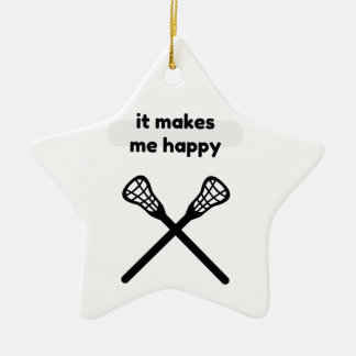 Il fait me fait la Heureux-Lacrosse Ornement Étoile En Céramique