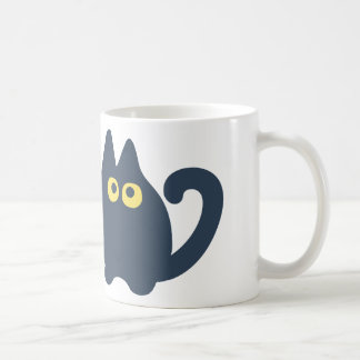 Il l'effiloche du chat mug blanc