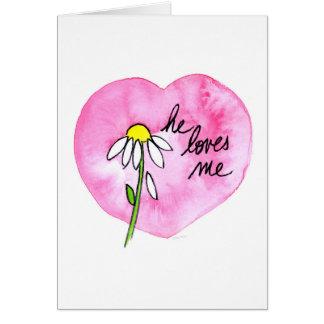 """Il m'aime"" carte"