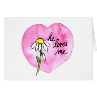 """Il m'aime"" carte horizontale"