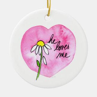 """""""Il m'aime"""" ornement"""