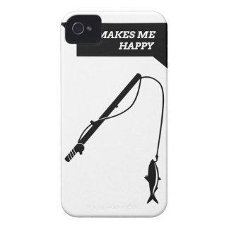 Il me fait Happy_Fisihng Rod Coque iPhone 4 Case-Mate