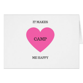Il me fait le camp heureux carte de vœux