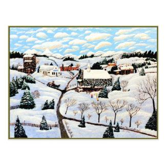 Il neige carte postale