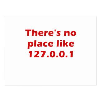 Il n'y a aucun endroit comme 127001 carte postale