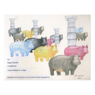 Il n'y a rien comme un hippopotame cartes postales