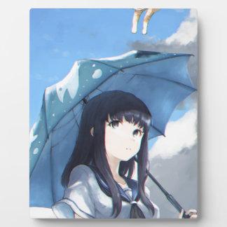 Il pleut des chats plaque photo
