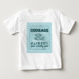 Il prend le courage de grandir et devenir qui vous t-shirt pour bébé