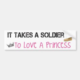 Il prend un soldat pour aimer une princesse adhésifs pour voiture