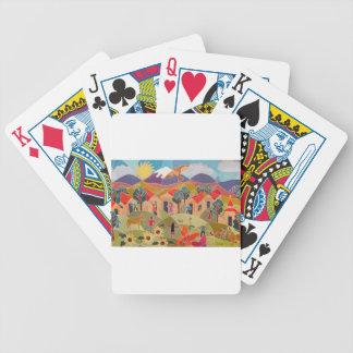 Il prend un village cartes à jouer