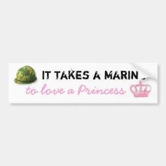 Il prend une marine pour aimer une princesse Bumpe Autocollant De Voiture