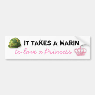 Il prend une marine pour aimer une princesse Bumpe Autocollant Pour Voiture