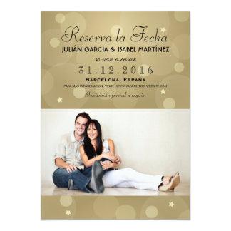 Il réserve la Date Mariage Annonce Targeta Photo Carton D'invitation 12,7 Cm X 17,78 Cm