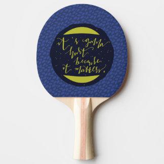 Il va blesser puisqu'il importe raquette tennis de table