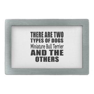 IL Y A DEUX TYPES de bull-terrier de miniature de Boucle De Ceinture Rectangulaire