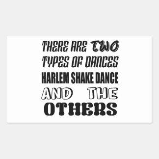 Il y a deux types de danse a de secousse de Harlem Sticker Rectangulaire