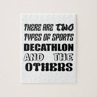 Il y a deux types de décathlon et de d'autres de puzzle