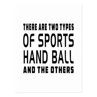 Il y a deux types de handball de sports carte postale