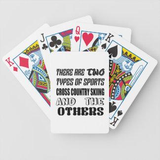 Il y a deux types de ski de pays croisé de sports jeu de cartes