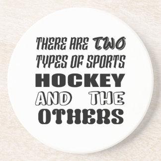 Il y a deux types d'hockey et de d'autres de dessous de verre en grès