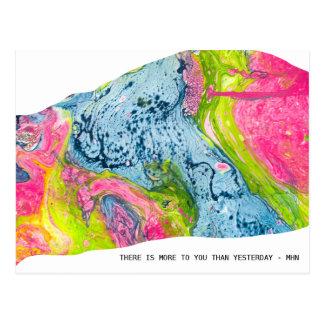 """""""Il y a plus à vous qu'hier"""" la carte postale"""