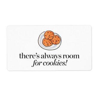 Il y a toujours pièce pour des biscuits étiquettes d'expédition
