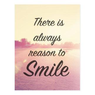 Il y a toujours raison de sourire carte postale