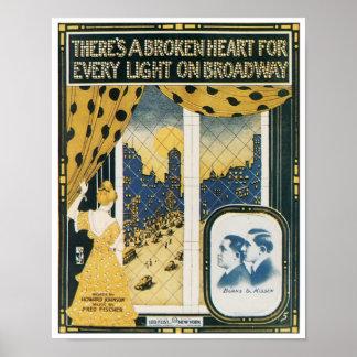 Il y a un coeur brisé pour chaque lumière sur Broa Posters